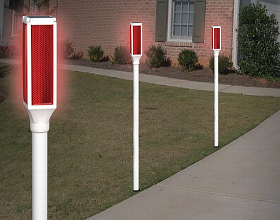 eco gadgets solar powered driveway markers could fail when needed. Black Bedroom Furniture Sets. Home Design Ideas