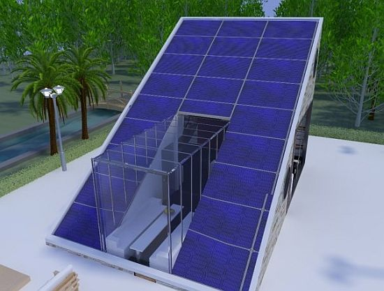Solar energy house relies entirely on natural resources for Renewable energy house plans