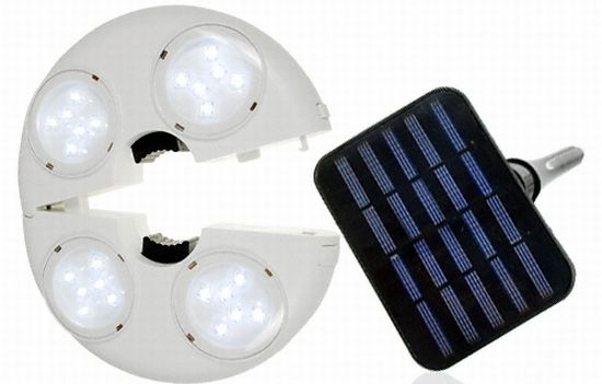 Superb Eco Gadgets: Solar Powered LED Patio Umbrella Light
