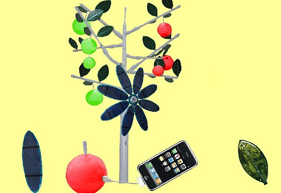 solar powered energy apple tree by greendix 3