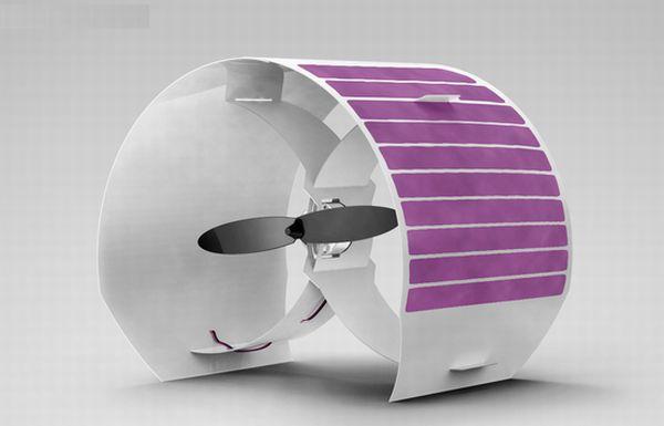 solar powered fan 1