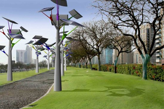 Solar Trees Harvest Energy During The Day To Illuminate