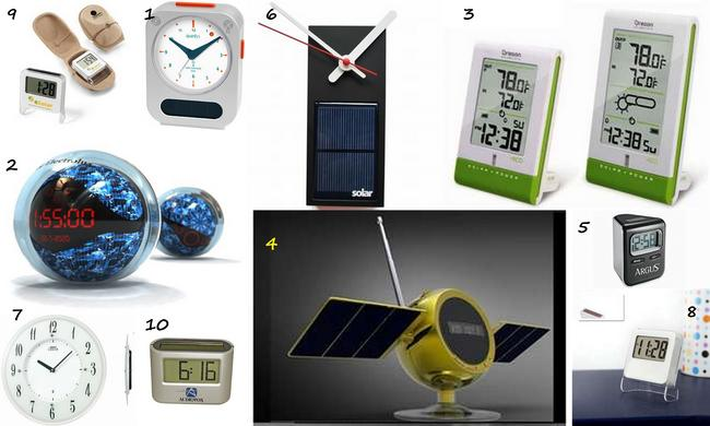 Solar Alarm Clocks