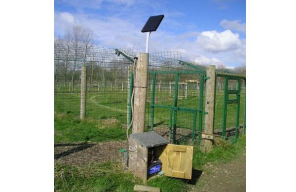 Solar electric fence