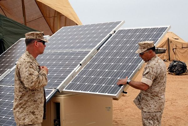 Solar energy by armed forces