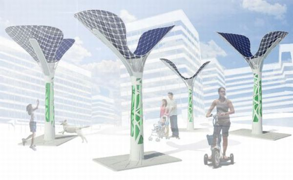 Solar power sculptures
