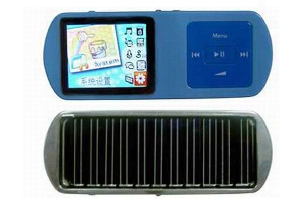 Solar powered mp4 player