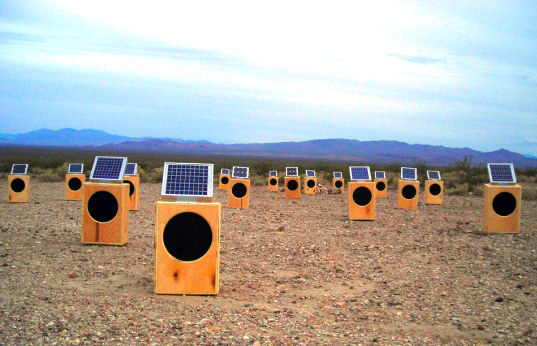 Solar powered speakers