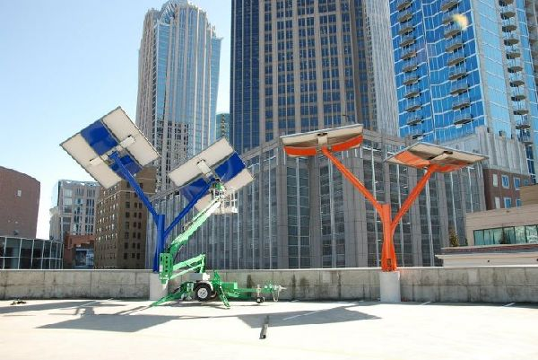 Solar Trees on Discovery Place Science Museum