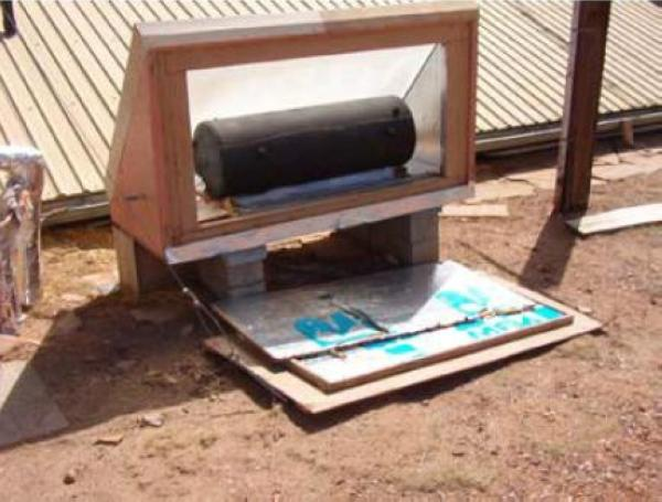 solar powered water heating system