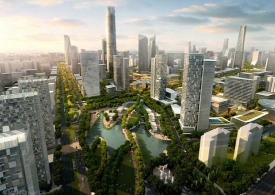 eco architecture som to create sustainable city center in beijing