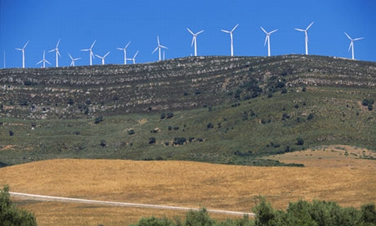 spanish wind farms record output