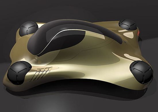 Eco Cars Peugeot Sphe Ra Futuristic Concept Car Floats