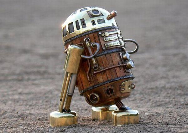 Steampunk R2-D2 Robot