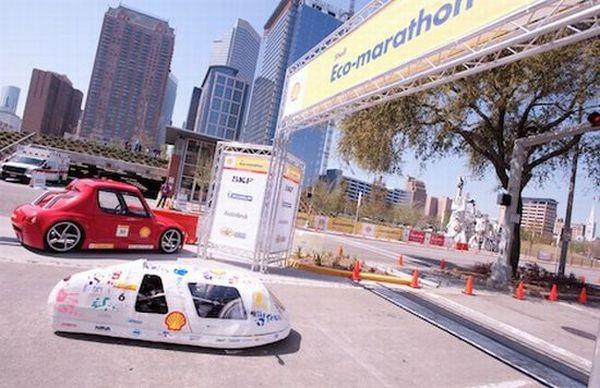Student-built fuel-efficient car
