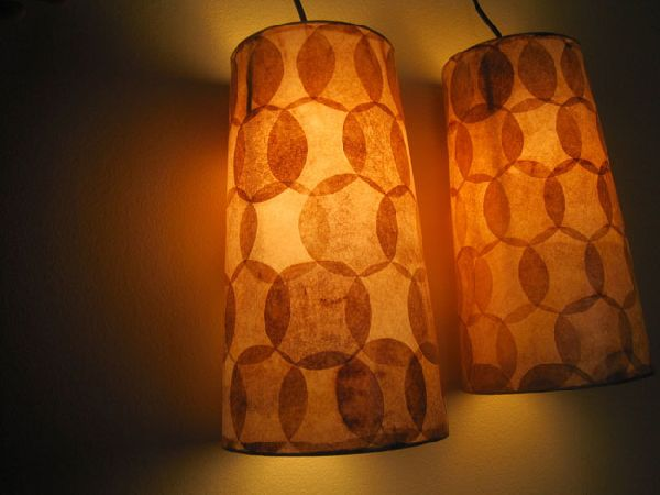 Stunning Lamps Created From Used & Stained Coffee Filters