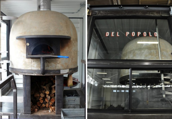 Stunning mobile pizzeria made from recycled shipping