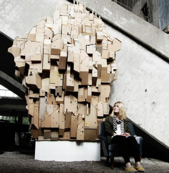 swedish artist creates sculptural castle from recy