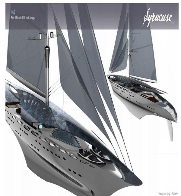 Syracuse sail solar yacht concept