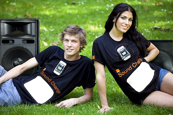 T-Shirt generates power from sound