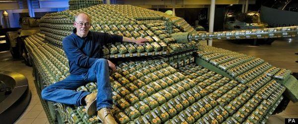 Tank Made Of Egg Cartons