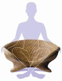 100% natural rattan made meditation chair - ecofriend