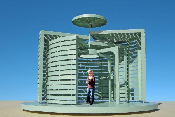 The spiral garden pavilion by Michael Jantzen