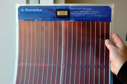 Thin flexible solar cell