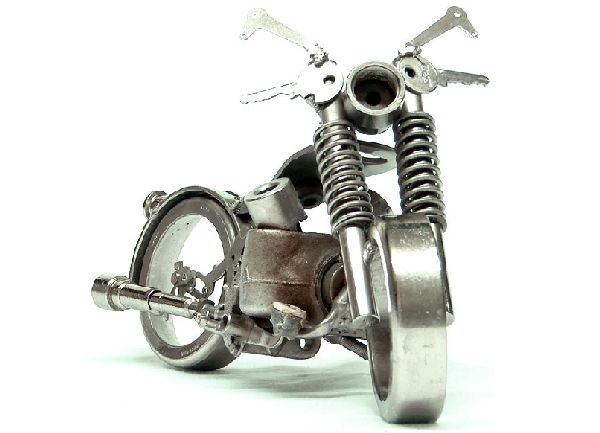 Tiny Scrap Metal Motorcycles