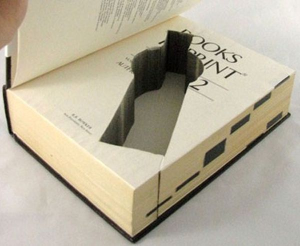 Unique Storage Custom Cut into Classic Books