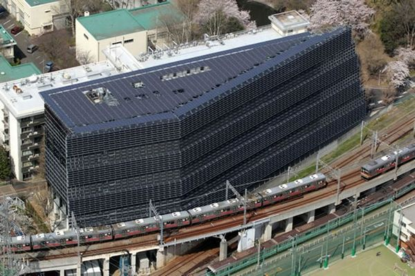University in Tokyo unveils solar panel-covered building