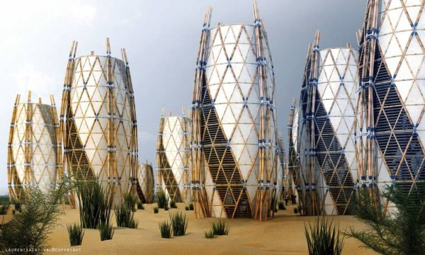vernacular bamboo housing project