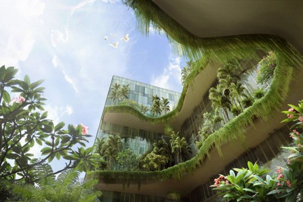 Green design to touch new heights with vertical park hotel for Green hotel design