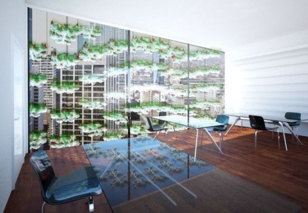 Vertical garden based on hydroponic plant growing technology
