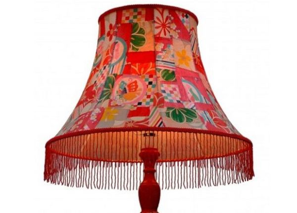 Vintage Kimono Standard Lamp