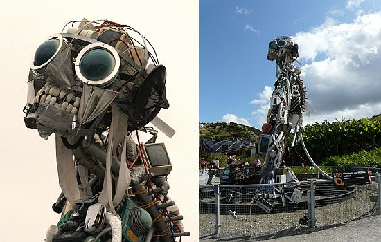 Amazing robot sculptures made from trash - Ecofriend