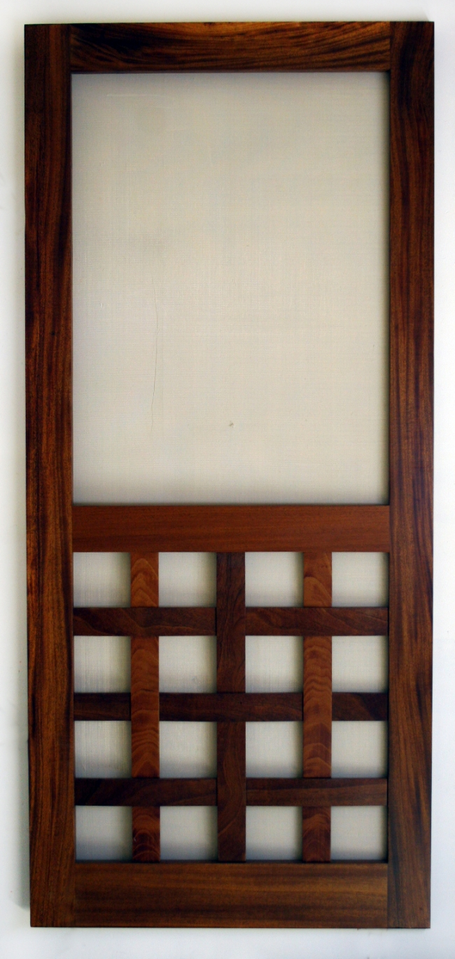 Wood Screen Doors With Removable Screens : Screen doors to make your home green and natural ecofriend