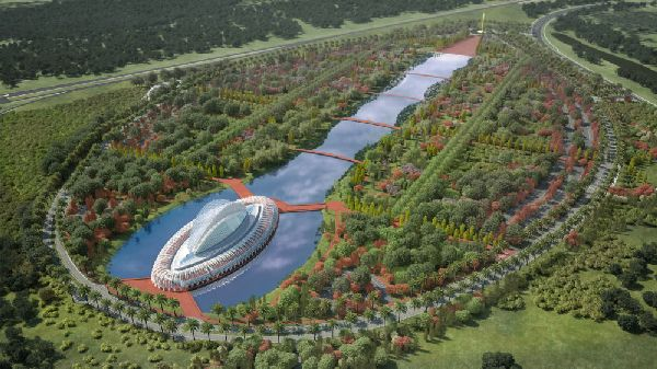 Work begins on feathery new campus for Florida Polytechnic designed by Calatrava