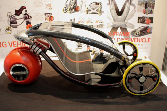 x frame all electric prototype vehicle by the nago