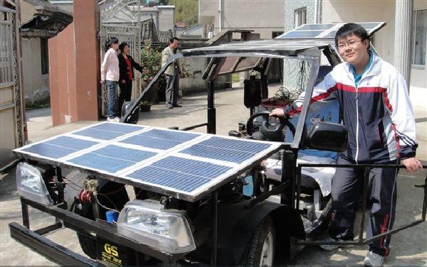 Zhejiang 19-year-old technical school 15000 create solar cars