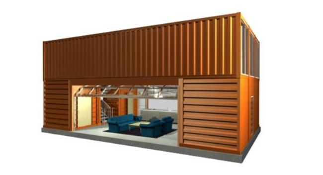 15 portable homes made using shipping containers ecofriend. Black Bedroom Furniture Sets. Home Design Ideas