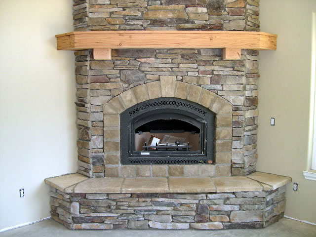 How to create built in shelving for your fireplace with for Eco friendly fireplace