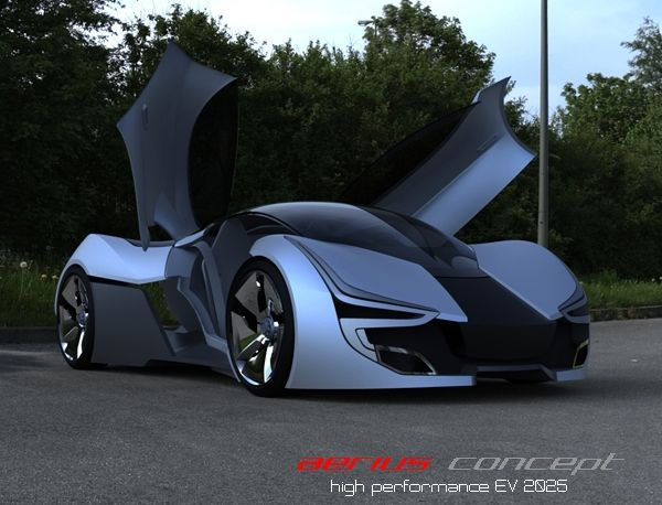 Aerius Electric Concept Car Harnesses Solar Energy To Increase