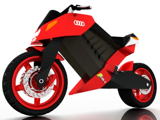 Eco Motorcycles: Audi EB1 concept superbike roars on electric power
