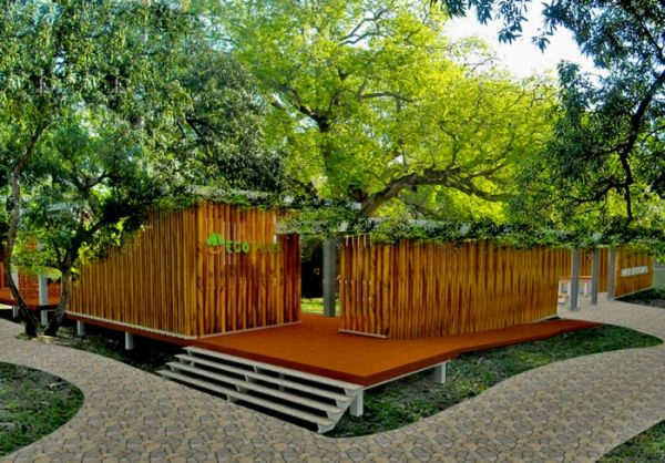 Centro ecotaller integrating nature into architectural for Architecture nature
