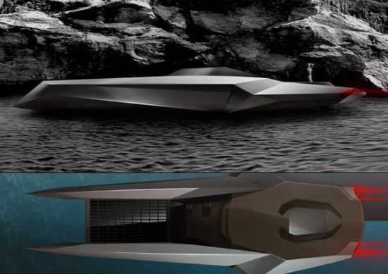 CUT green yacht features a bamboo body and solar panels
