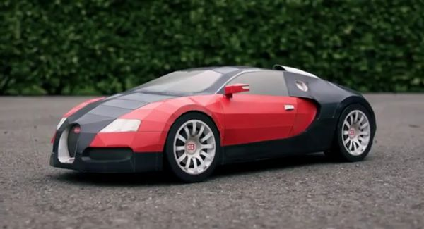 Designer Crafts Scale Model Of Bugatti Veyron Out Of Paper Ecofriend