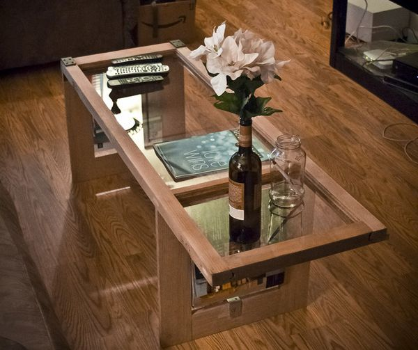 From Window To Table An Amazing Coffee Table Made From An Old Window Ecofriend