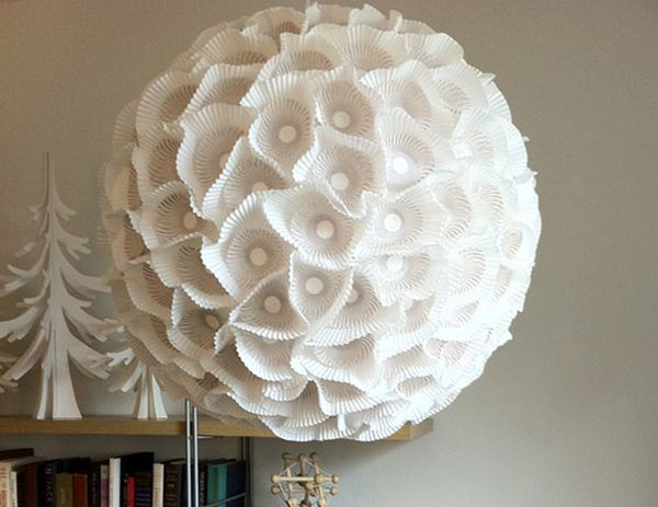 Sculptural Paper Orb Lamp Created By Heather Jennings