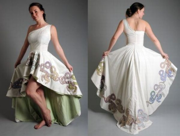Most interesting dresses made from recycled materials for Designers that use recycled materials